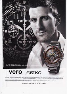 SEIKO 2014 watch magazine ad print page clipping advert NOVAK DJOKOVIC tennis
