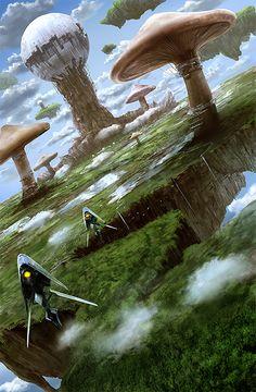Science Fiction World Arte Sci Fi, Sci Fi Art, Sci Fi Fantasy, Fantasy World, Art Visionnaire, Rpg Map, Alien Planet, Alien Worlds, Futuristic City