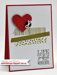 Splotch Design - Jacquii McLeay - Stampin Up - Washi Tape Heart Card