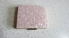 Vintage Glittering Pale Pink Confetti Resin Mirrored Compact - Retro Vanity Collectables by AdoredAnew on Etsy