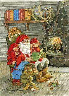 Anki : Joulukortti Pukkisarja, kuvat Marjaliisa Pitkäranta - Joulukortit - Kortit
