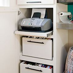 Hidden Storage - Real-Life Redo: Home Office Makeover