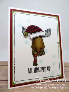 Weihnachtskarte Elch Moose ... gestempelt...stampin... wie sie entstanden ist, wird auf der Website gut erklärt :.          http://dianagibbs.typepad.com/stampin_with_di/tutorials/