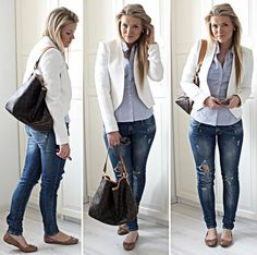 Blazers are my life! Look at how they dress up anything even these ripped jeans! If you dont have a blazer in your closet go buy one!