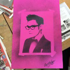 I finished my T.O.P stencil art *^* oh i love it ...  #t.o.p #choiseunghyun #stencil #art #love