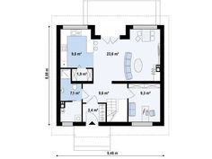 Exemple de case medii - locuinte pentru familii moderne - Case practice Case, Floor Plans, Modern, Trendy Tree, Floor Plan Drawing