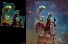 In celebration of its upcoming 25th anniversary in April, the Hubble Space Telescope has returned to the site of what may be its most famous image, the wispy...