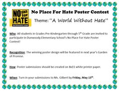 A World Without Hate No Place For Hate Photo Contest