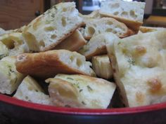 No-Knead Focaccia - I always bring a double batch of this to potlucks. People actually complain if I show up without it. It's cheap and easy, but looks like I've been slaving in the kitchen all day.