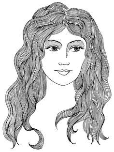 zentangle hair:)