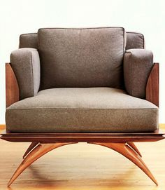Paul Mathieu Bianca Club Chair...I love the base, the lines are beautiful!
