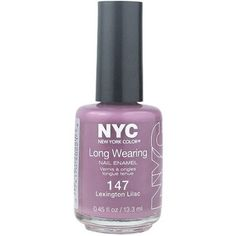 NYC New York Color Long Wearing Nail Enamel, 147 Lexington Lilac, 0.45 fl oz, Purple
