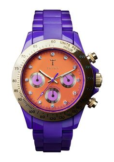Purple and big face watches what more could you ask for!