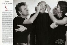 Mikhail Baryshnikov, Eliot Feld, and Damian Woetzal, photographed by Bruce Weber at The Ballet Tech Foundation at the Lawrence A. Wien for Dance and Theatre in New York. From the January 2004 issue of Vanity Fair Magazine.