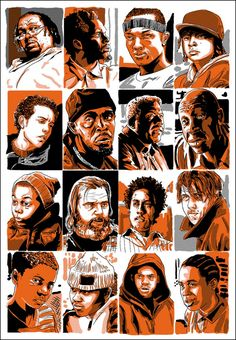 My name is my name The Wire Tv Series, The Wire Tv Show, The Wire Hbo, East Coast Style, Best Tv Series Ever, Hbo Series, Black Comics, Life Of Crime, Screen Print Poster