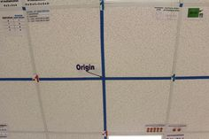 Turn your tiled ceiling into the coordinate grid!