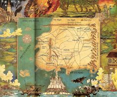 ooooo beautiful Wheel of Time map!