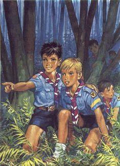 Pierre Joubert - The Cub Scouts Les Scouts, Girl Scouts, Beauty Of Boys, Scout Uniform, Scout Camping, Boys Life, Scout Leader, Art Graphique, Girl Guides