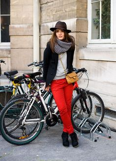 red pants #red #pants #bike