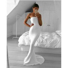 total look white fashion woman style dress