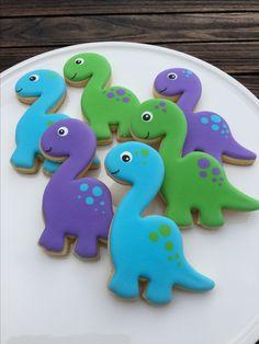Dinasour Birthday, Dinosaur Birthday Cakes, Dinosaur Cake, Dinosaur Party, Boy Birthday, Elmo Party, Mickey Party, Birthday Ideas, Cookies Decorados
