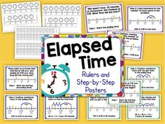 Elapsed Time: step-by-step posters and elapsed time rulers