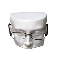 Case Pack of 1 Giell Styrofoam Foam Mannequin Long Neck Wig Head Display (white half face display head)