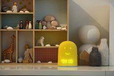 The new REMI all-in-one sleep companion for kids: alarm clock, nightlight, sleep tracker, Bluetooth speaker. And cute!
