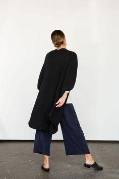 Rebekka Kimono in Cotton/Linen Sweater Knit Black