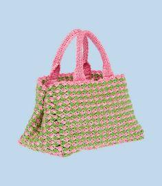 prada crochet handbag
