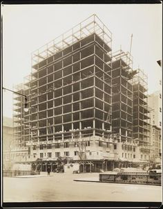 [Broadway and West 98th Street. Building under construction.]