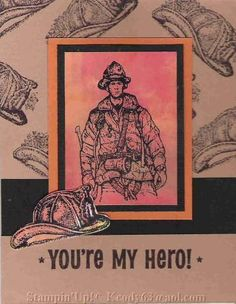 fire brigade hero by Karen63 - Cards and Paper Crafts at Splitcoaststampers