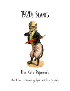 Art Deco Slang Note Cards / Vintage Art Flapper Great Gatsby Idioms Sayings Phrases / Cat's Pajamas / Bee's Knees / Cat's Meow Vintage Cat, Vintage Images, Vintage Posters, Cat Lover Gifts, Cat Gifts, Crazy Cat Lady, Crazy Cats, Poster Art, Poster Prints