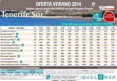 Oferta Tenerife Sur Julio-Septiembre desde 560€.Salidas Jueves desde VALL con Cía Air Europa ultimo minuto - http://zocotours.com/oferta-tenerife-sur-julio-septiembre-desde-560e-salidas-jueves-desde-vall-con-cia-air-europa-ultimo-minuto/