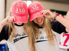 Custom bid day shirts and hats for Cal Poly SLO Alpha Chi Omega, only from The Social Life! #custom #bidday #recruitment #alphachiomega #axo #thesociallife #sorority