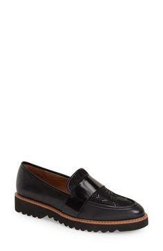 Free shipping and returns on Halogen® 'Emily' Loafer (Women) at Nordstrom.com. A bold band accent crosses the vamp of a menswear-inspired slip-on set on a platform sole for a cool, retro finish.