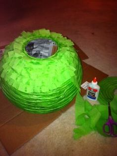 Mirmysaurus: Cheap, Quick, and Easy Angry Birds Pinata DIY made from a paper lantern
