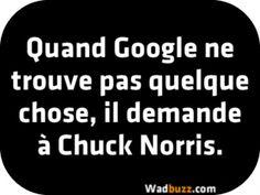 Quand Google ne trouve pas quelque chose, il demande à Chuck Norris.