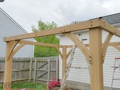 How to Build a Pavilion in a Weekend - Everyday Shortcuts Backyard Pavilion, Backyard Gazebo, Backyard Pool Designs, Outdoor Pergola, Backyard Landscaping, Backyard Ideas, Patio Ideas, Diy Gazebo, Gazebo Plans