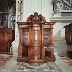 Confessional booth inside St. Peter's basilica, Vatican city