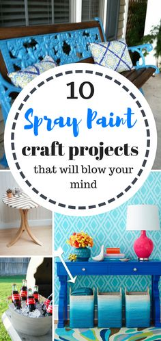 If you have a few hours of spare time! Try these quick and easy spray paint craft projects!