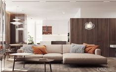 Stylish living room for a young couple in Ukraine
