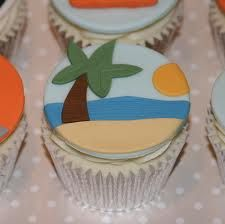 beach cupcakes - Google Search Cupcake Wars, Cupcake Cookies, Cupcake Toppers, Beach Cupcakes, Mini Cakes, Cup Cakes, Holiday Cupcakes, Cute Cups, Small Cake