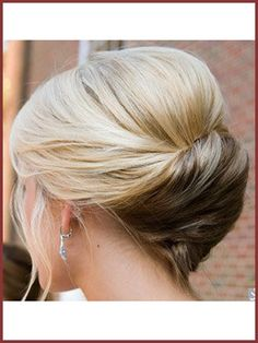 French Twist Updo For Wedding   ... hair so that she could create a special wedding day look for her hair