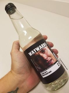 Tears of Righteous Man Waywards Bottle ... LOL ^_^ #Patreon #Supernatural #SPN bottle #Jones Waywards S12 diy crafts #SPNparty #Dean Winchester || Labels here, and a few not shown availible for download over on the patreon: (X)