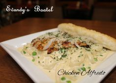 Evandy's Chicken Alfredo, one of our great pasta dishes highlighted during our Tuesday's Dinner for Two. Enjoy a date by our fireplace with our great Tuesday night pasta specials.