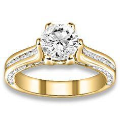 1.93 ctw 14k YG Natural I-J Color, VS - SI  Clarity, Accent Diamonds Engagement Ring http://www.pricepointshop.com/product.asp?idproduct=21696