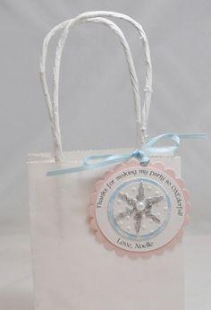 Snowflake Favor Tags Winter Onederland Set by CardsandMoorebyTerri, $21.00