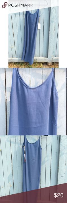 Blue, knee length, spaghetti strap dress Blue Ensign 100% polyester dress from Nordstrom - Leith Brand. Brand new! Dresses Midi
