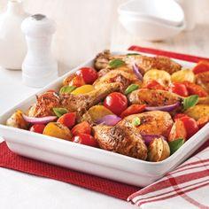 Casserole de poulet aux légumes caramélisés - Recettes - Cuisine et nutrition - Pratico Pratique